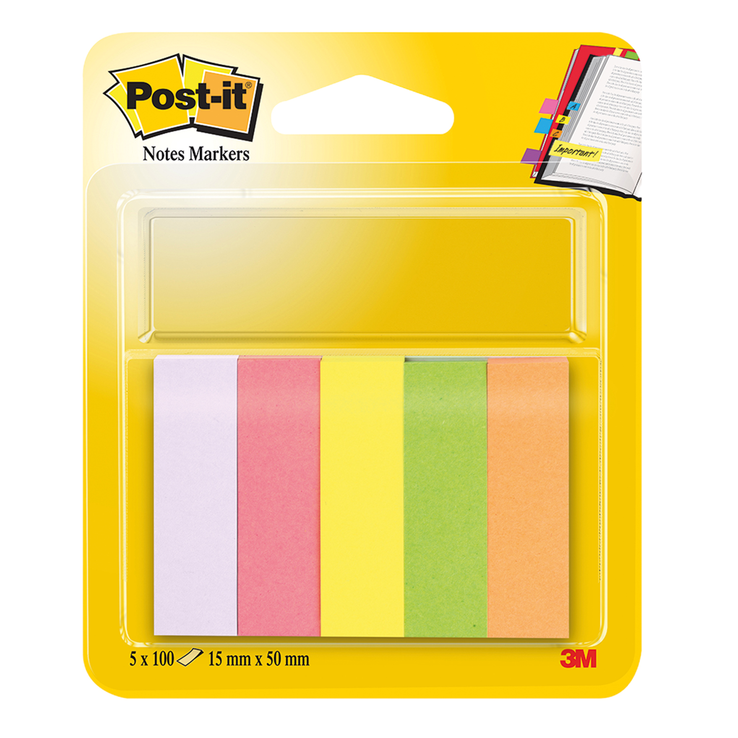 15 x 50 mm 3M Post-it Notes Page Marker neonfarben