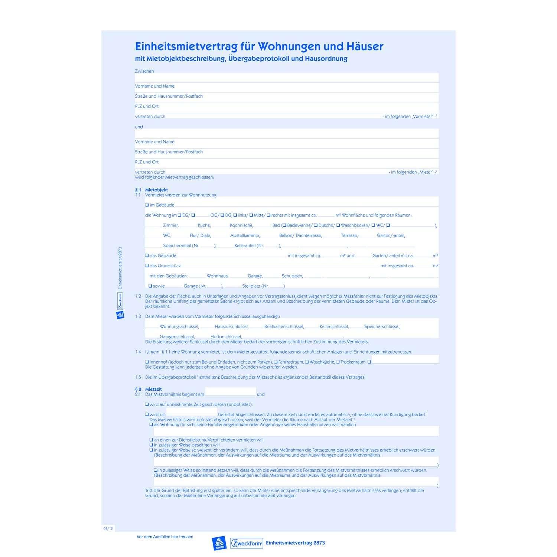 einheitsmietvertrag 2873
